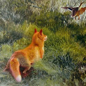 Eluding-the-fox-bruno-andreas-liljefors